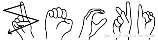 Zecki in Fingersprache für Gehörlose