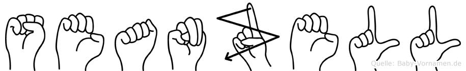 Seanzell im Fingeralphabet der Deutschen Gebärdensprache