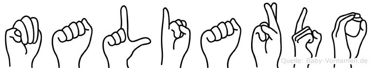 Maliardo in Fingersprache für Gehörlose