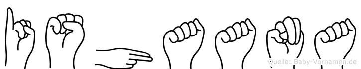 Ishaana in Fingersprache für Gehörlose