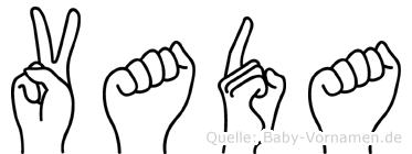 Vada in Fingersprache für Gehörlose