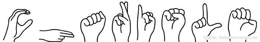 Charisle im Fingeralphabet der Deutschen Gebärdensprache