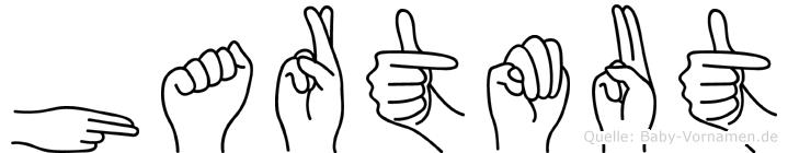 Hartmut im Fingeralphabet der Deutschen Gebärdensprache