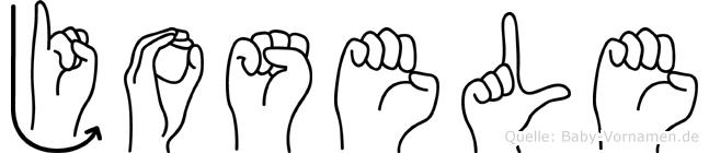 Josele im Fingeralphabet der Deutschen Gebärdensprache