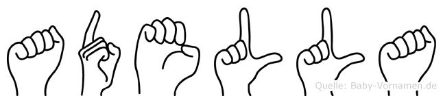Adella in Fingersprache für Gehörlose