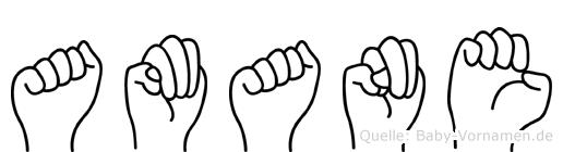 Amane im Fingeralphabet der Deutschen Gebärdensprache