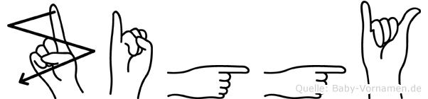 Ziggy in Fingersprache für Gehörlose