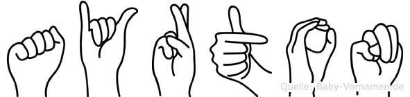 Ayrton in Fingersprache für Gehörlose