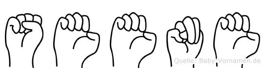 Seene im Fingeralphabet der Deutschen Gebärdensprache