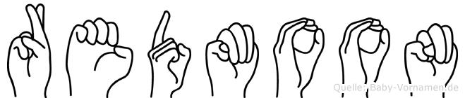 Redmoon im Fingeralphabet der Deutschen Gebärdensprache