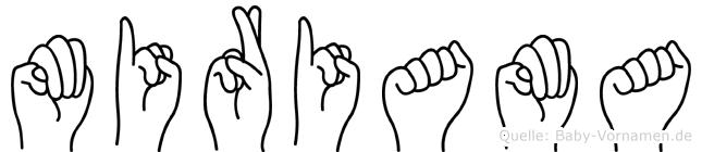 Miriama im Fingeralphabet der Deutschen Gebärdensprache