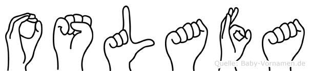 Oslafa in Fingersprache für Gehörlose