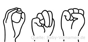 Ons in Fingersprache für Gehörlose