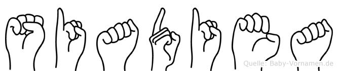 Siadiea in Fingersprache für Gehörlose
