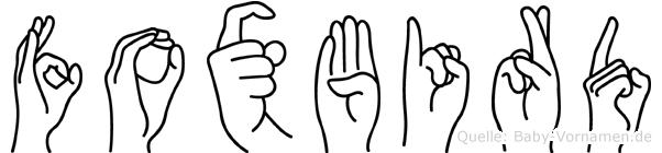 Foxbird in Fingersprache für Gehörlose
