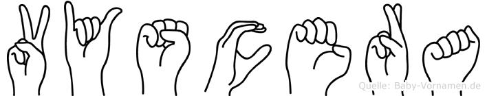 Vyscera in Fingersprache für Gehörlose