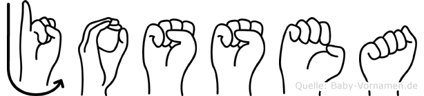 Jossea im Fingeralphabet der Deutschen Gebärdensprache
