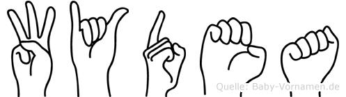 Wydea in Fingersprache für Gehörlose