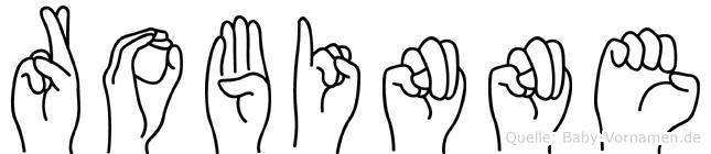 Robinne im Fingeralphabet der Deutschen Gebärdensprache
