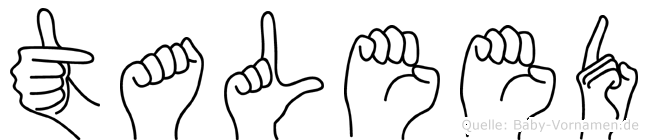 Taleed in Fingersprache für Gehörlose