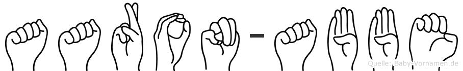 Aaron-Abbe im Fingeralphabet der Deutschen Gebärdensprache