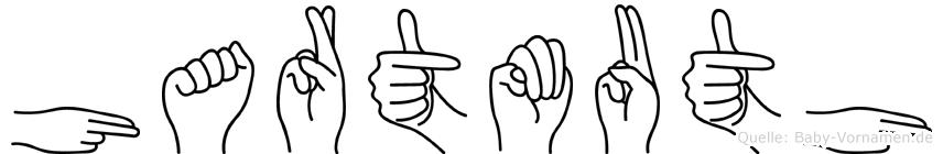Hartmuth im Fingeralphabet der Deutschen Gebärdensprache