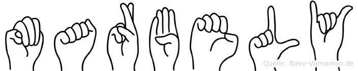 Marbely im Fingeralphabet der Deutschen Gebärdensprache