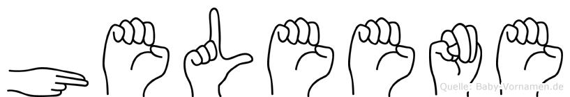 Heleene in Fingersprache für Gehörlose