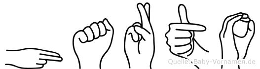 Harto im Fingeralphabet der Deutschen Gebärdensprache