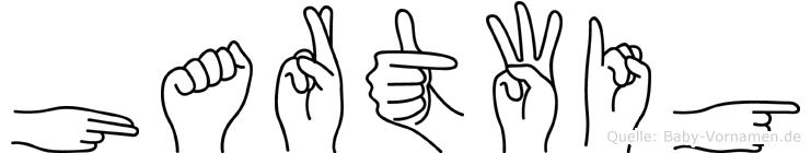 Hartwig im Fingeralphabet der Deutschen Gebärdensprache