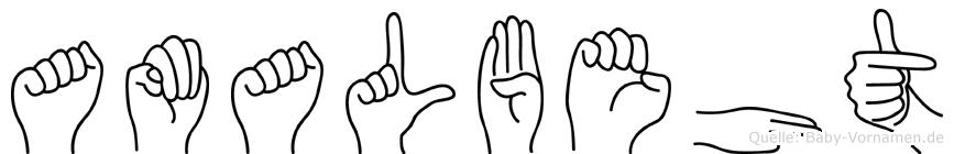 Amalbeht in Fingersprache für Gehörlose