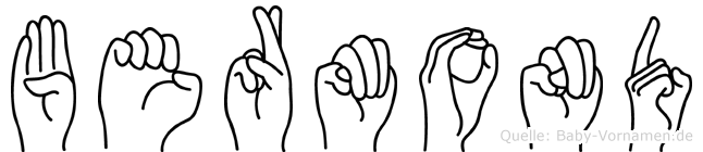 Bermond im Fingeralphabet der Deutschen Gebärdensprache