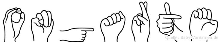 Ongarte in Fingersprache für Gehörlose