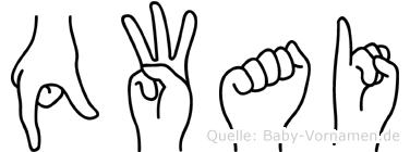 Qwai in Fingersprache für Gehörlose