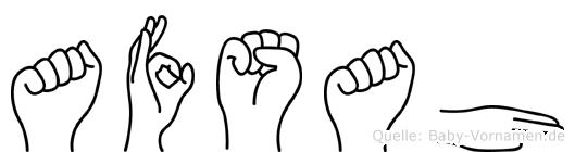 Afsah im Fingeralphabet der Deutschen Gebärdensprache