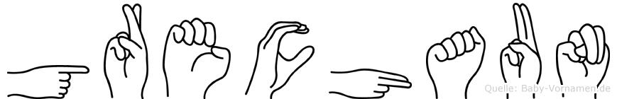 Grechaun in Fingersprache für Gehörlose
