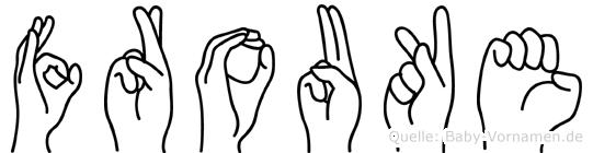 Frouke in Fingersprache für Gehörlose