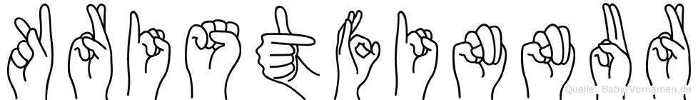 Kristfinnur in Fingersprache für Gehörlose