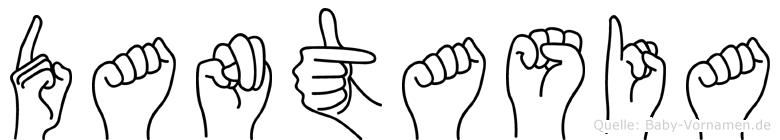 Dantasia im Fingeralphabet der Deutschen Gebärdensprache