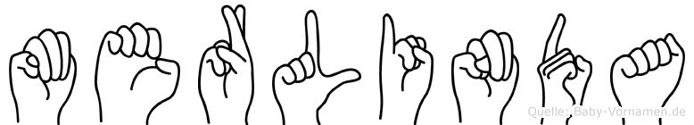 Merlinda im Fingeralphabet der Deutschen Gebärdensprache