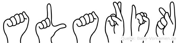 Alarik im Fingeralphabet der Deutschen Gebärdensprache