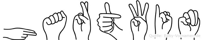 Hartwin im Fingeralphabet der Deutschen Gebärdensprache
