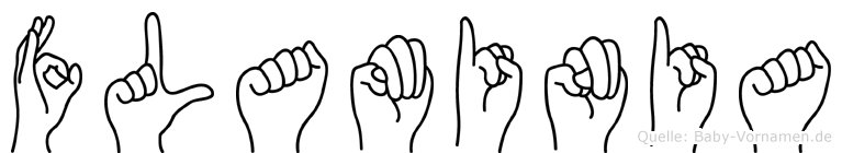 Flaminia in Fingersprache für Gehörlose
