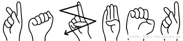 Kazbek im Fingeralphabet der Deutschen Gebärdensprache