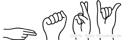 Hary im Fingeralphabet der Deutschen Gebärdensprache