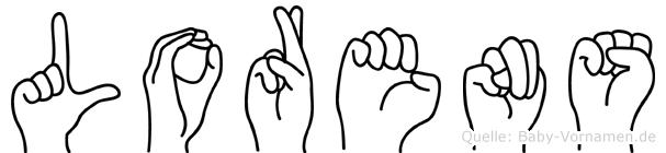 Lorens in Fingersprache für Gehörlose