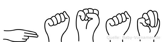 Hasan in Fingersprache für Gehörlose