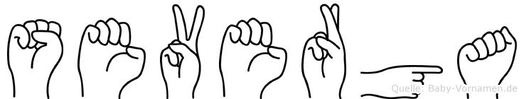 Severga im Fingeralphabet der Deutschen Gebärdensprache