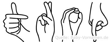 Trop in Fingersprache für Gehörlose
