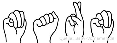 Marn in Fingersprache für Gehörlose